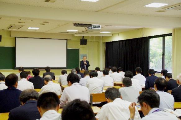Opening address by Kazushi Nakano, Member of Board of Directors, UEC, Tokyo.