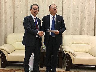 President Ni and Prof. Abe